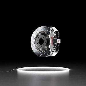 3D model Sparta Evolution Triton caliper Pegasus rotor brake system kit