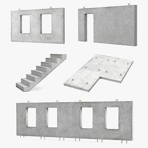 concrete panels 4 precast 3D model