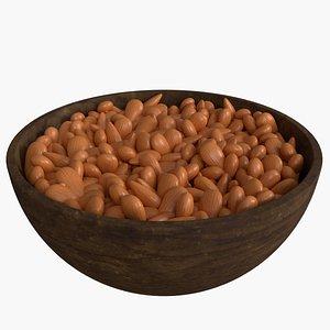 3D bowl almonds model