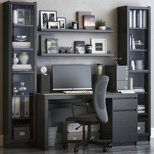 3D model IKEA office workplace 58