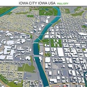 Iowa City Iowa USA 3D