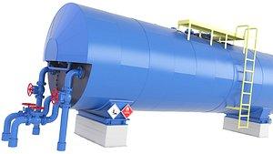 3D tank oil fuel