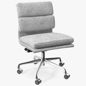 Conference Chair with no Arms Grey 3D model