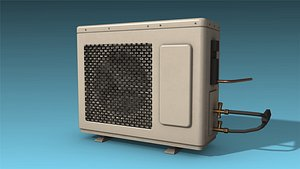3D low-poly air conditioner