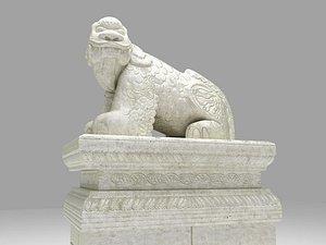 3D Mythological lion Haechi statue model