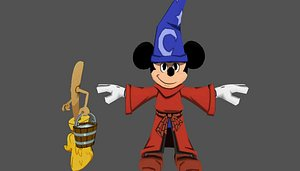 3D mickey mouse broom -