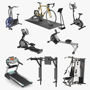 3D Exercise Equipment Collection 4