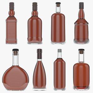 whiskey glass bottle 3D model