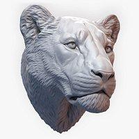 Lioness Sculpture Animal Head