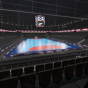 3D handball arena ball