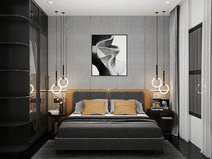 Modern Style Bedroom - 601 3D model