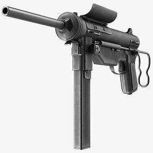 M3 Grease Gun Submachine Gun 45 Caliber 3D model