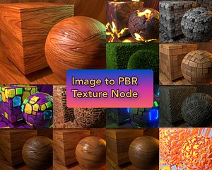 3D Image to PBR Texture Node shader for blender model