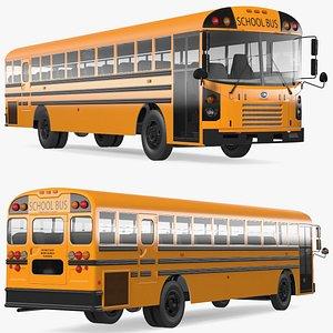 Blue Bird TX3 School Bus 3D model