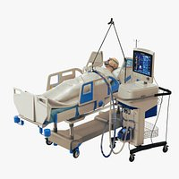 Patient on Ventilator