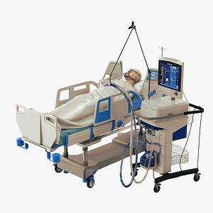 3D patient ventilator
