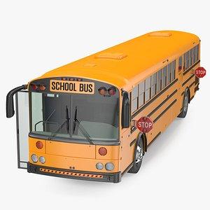 school bus rigged 3D model
