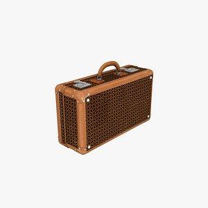 3D suitcase old case model