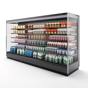 vertical multi deck refrigerator 3D