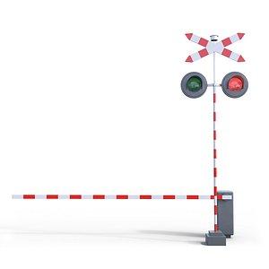 3D model Railway Barrier