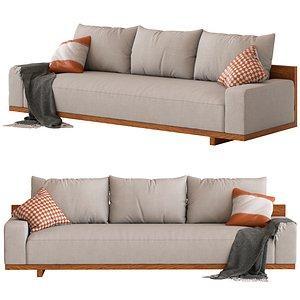 Coco Republic CR Essentials Kobe Sofa 3D model