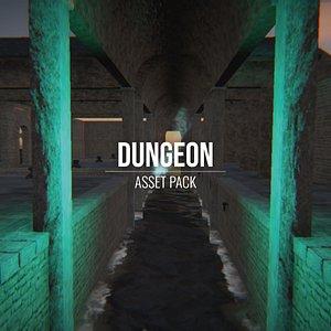 3D Dungeon - Asset Pack - Blender and FBX model