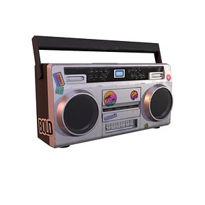 Low-poly Boombox 3D model