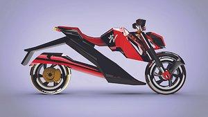 SCI FI bike Zx 3D model
