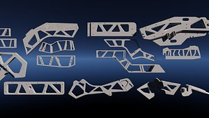 3D model kitbash kit sci