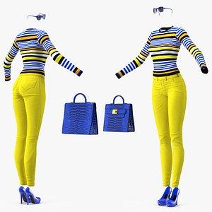 3D Fashionable Style Clothes Set model