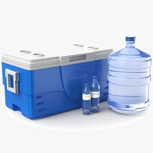 3D model Water Containers Collection