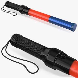 control led light wand 3D