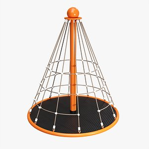 Carousel with rope climber 3D model