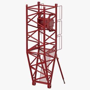 3D crane s pivot section model