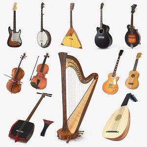 Stringed Instruments Collection 7 3D model