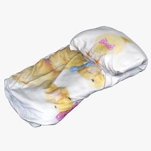 3D model bedclothes bedding