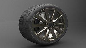 3D Realistic Tire Wheel 4 model