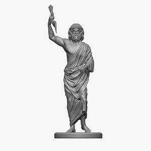 Zeus statue 3D print 3D model