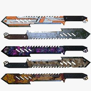 3D knife machete