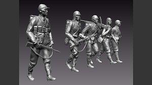 3D japan soldiers