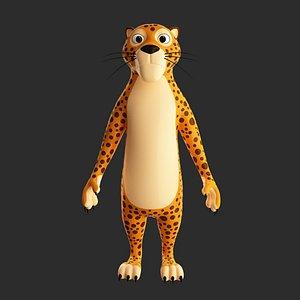 leopard cartoon model