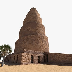 3D model Malwiya Mosque