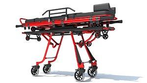 3D stretcher trolley ambulance