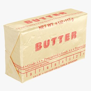 3D Stick of Wrapped Butter