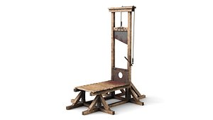 Guillotine for Execution Blood model