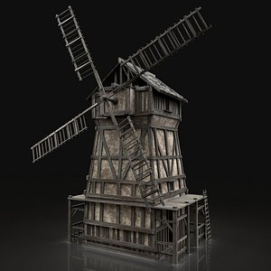 medieval city town 3D model