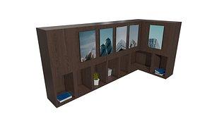 3D Cubical Wall Shelf model