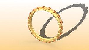 3D ring rhino model