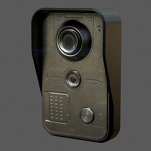 door intercom 3D model