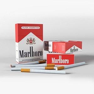 Marlboro Cigarette 3D model
